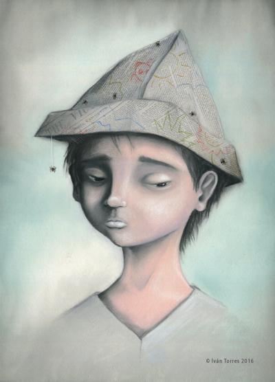 """Ilustración """"Infancia"""". Proceso"""